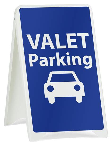 valet parking a frame signs economical folding signage