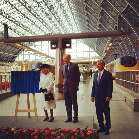 sophies world 20th anniversary queen unveils plaque for 20th anniversary of channel tunnel opening