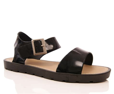 womens jellie jelly summer low wedge sandals retro