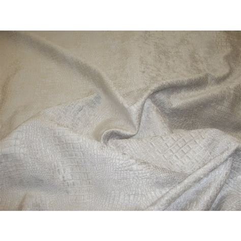 platinum upholstery platinum silver crocodile upholstery chenille fabric per yard