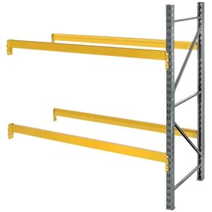 husky shelving parts 36 quot d x 120 quot h slotted pallet rack add on units