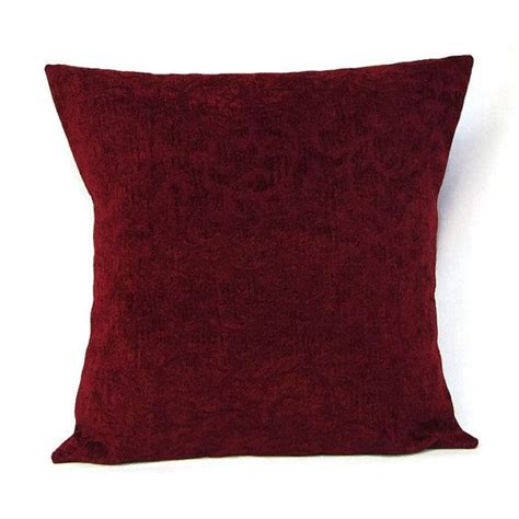 Burgundy Pillows Decorative by 18x18 Throw Pillow Cover Burgundy Home Decor Decorative