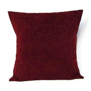 18x18 throw pillow cover burgundy home decor decorative