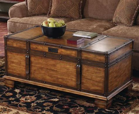 black trunk coffee table variants of trunk end table homesfeed