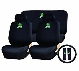 Seat Covers Ireland 11 Auto Interior Gift Set Lucky Clover