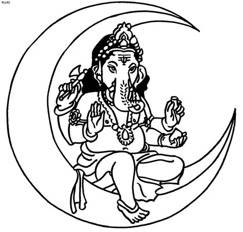 outline goddess ganesh clipart best
