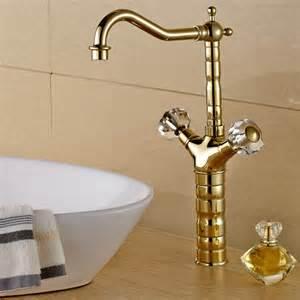 Modern Bathroom Handles Modern Bathroom Gold Faucet With Glass Knob Handles
