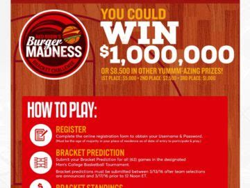 red robin bracket challenge sweepstakes - Red Robin Sweepstakes
