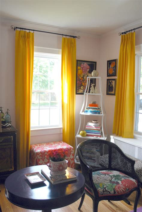 pale yellow curtains and drapes pretty in pink effortless style blog