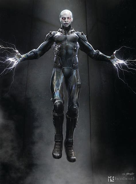Dr James Barnes Concept Art Electro And Spider Man For The Amazing