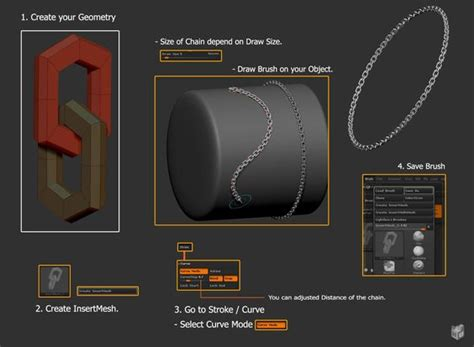zbrush rope tutorial a simple way to create a chain in zbrush by eternity nu