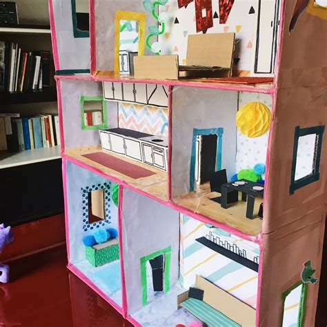 casa bambole come costruire una casa delle bambole fai da te in cartone