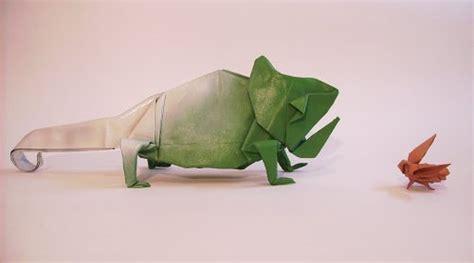 Origami Chameleon - 40 delightful origami designs naldz graphics
