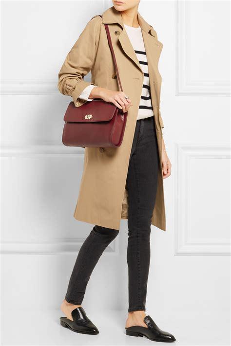 P Da Bag a p c sac minimal leather shoulder bag lyst