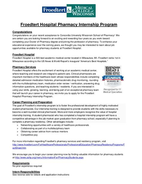 cover letter for internship pharmacy