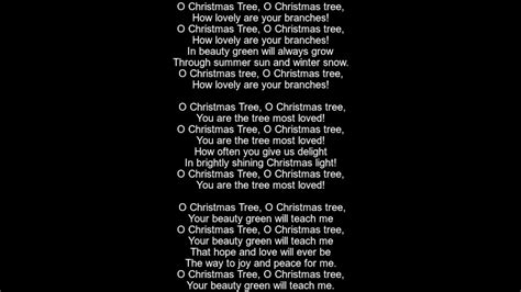 what are the words to o christmas tree o tree lyrics version 4