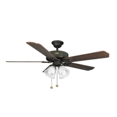 huntington ceiling fans hton bay huntington 52 in rubbed bronze indoor