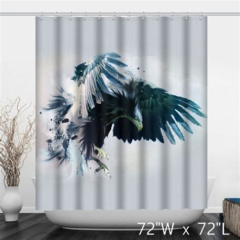 american flag eagle graffiti print shower curtain custom