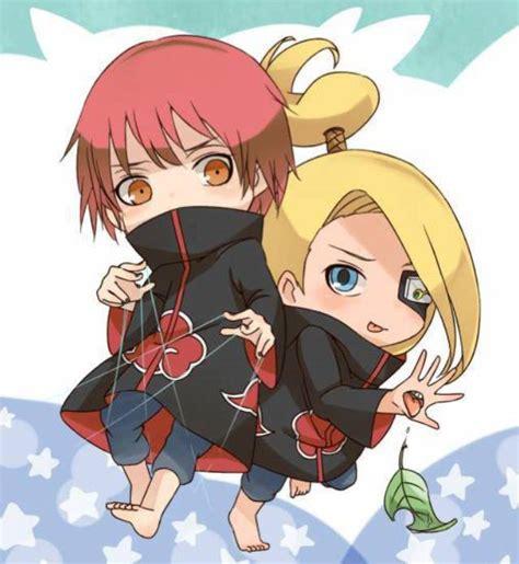 Kaos Deidara Akatsuki Chibi Boruto Anime sasori and deidara anime