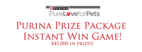 Pure Love For Pets Sweepstakes - pure love for pets instant win game southern savers