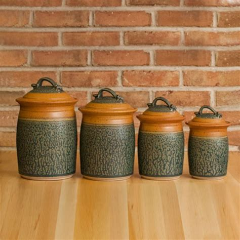 pottery kitchen canister sets 35 best pottery canister sets images on