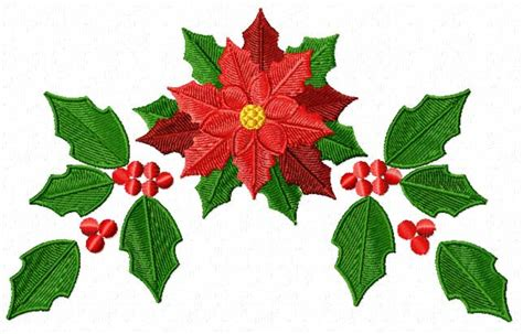 poinsettia designs 4 hobby machine embroidery designs holidays