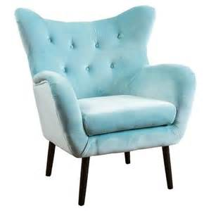 Blue Chair Light Blue Velvet Button Tufted Arm Chair
