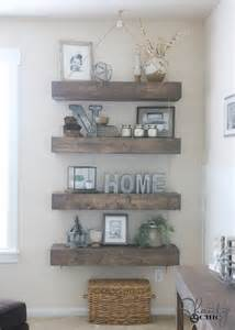 hanging shelf ideas diy floating shelves with rope and pulley free plans