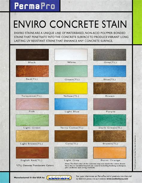 water based stain colors water based concrete stain colors industrial home ideas