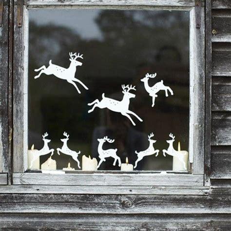 Weihnachtsdeko Fenster Aufkleber ideen fensterdeko zu weihnachten fenster aufkleber