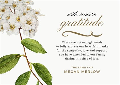 Thank You Letter During Illness bereavement thank you notes lovely wording exles