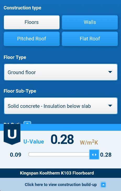 Kingspan Floor Insulation Calculator by Kingspan Floor Insulation Calculator Meze