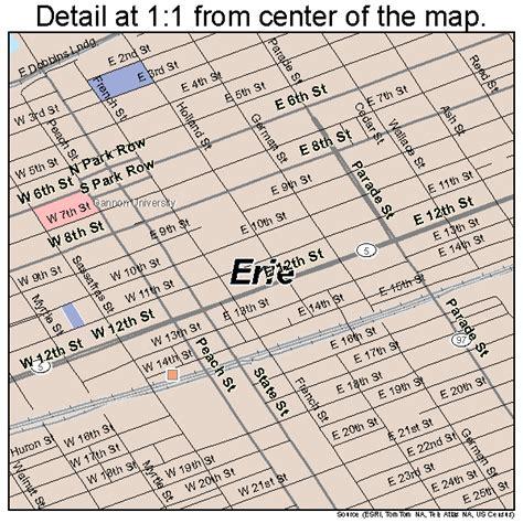 printable map erie pa erie pennsylvania street map 4224000