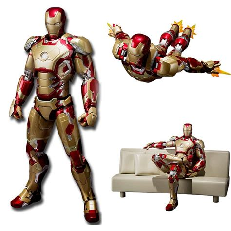 iron man 3 couch shfiguarts iron man mark 42 with sofa pvc action figure