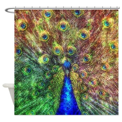 peacock shower curtain hooks peacock shower curtain by ancello