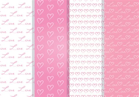 love heart pattern love heart vector seamless pattern download free vector