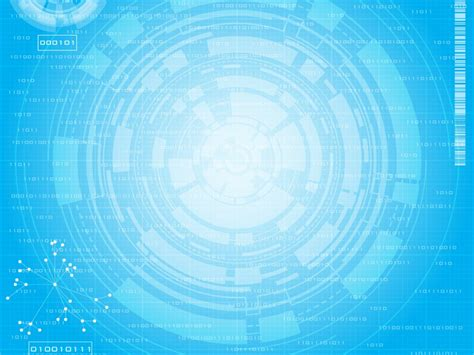 Blue Tech Circles Backgrounds Blue Technology White Templates Free Ppt Backgrounds And Powerpoint Templates Size Of Slides