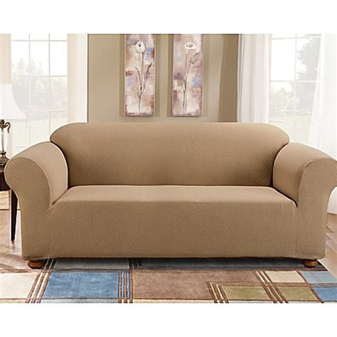 one piece sofa slipcover sure fit 174 simple stretch subway tile 1 piece sofa