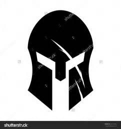 Spartan helmet logo black spartan helmet stock vector illustration