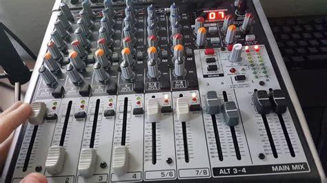 Mixer Behringer Xenyx X1204 Usb dual pc setup mixer explanations behringer x1204 usb