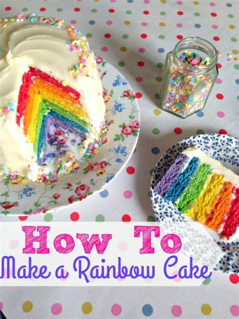 easy  layer rainbow cake step  step