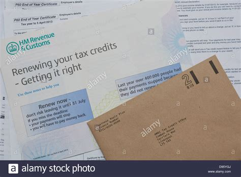 Tax Credit Form Notes tax credits hm revenue and customs form to renew tax