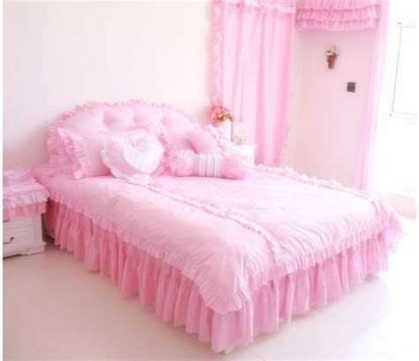 pink princess comforter sets pink ruffle korean princess bedding comforter set bed sets