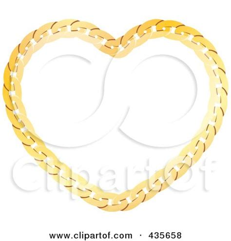 suspended decorative chain of ribbons and flowers royalty free rf gold heart clipart illustrations