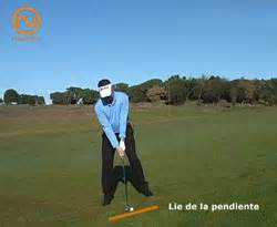 golf swing perfetto curso golf swing en lie de subida el golpe
