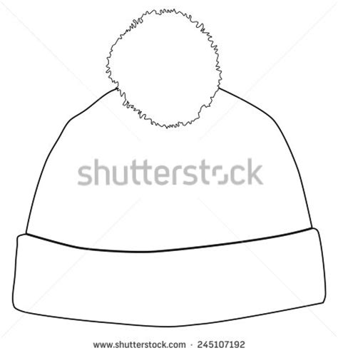 snow hat template pompom stock images royalty free images vectors