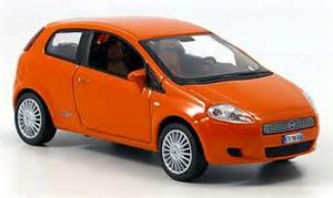 Fiat Grande Punto Orange Fiat Grande Punto Orange 3 Doors 2005 Norev Diecast Model