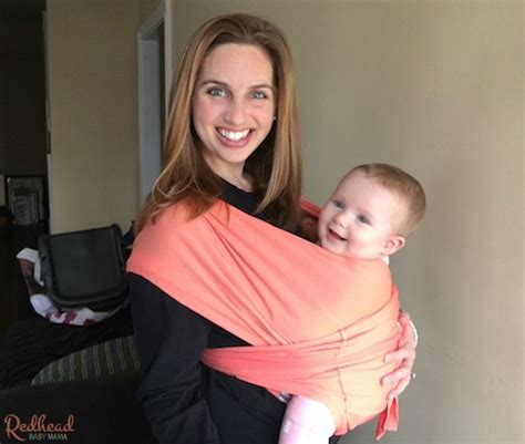 Baby K Carrier Active Coral checking out the baby k babywearing baby atlanta