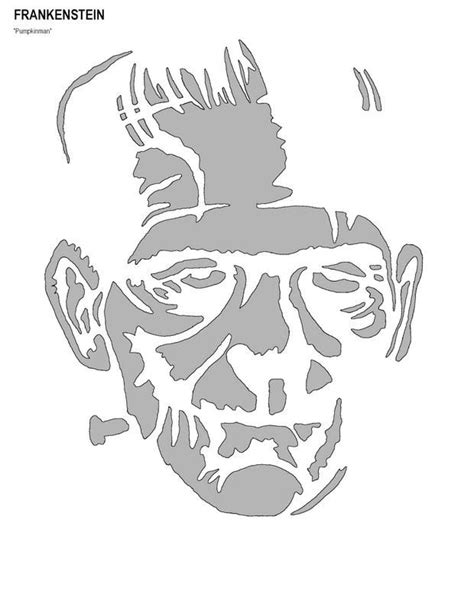 printable pumpkin stencils frankenstein 309 best pumpkin stencils images on pinterest halloween