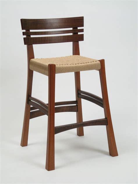 mahogany bar stool hand crafted walnut and mahogany bar stool by dogwood